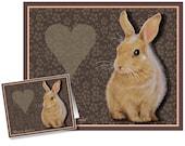 Valentine's Day Card Bunny Rabbit by Melody Lea Lamb