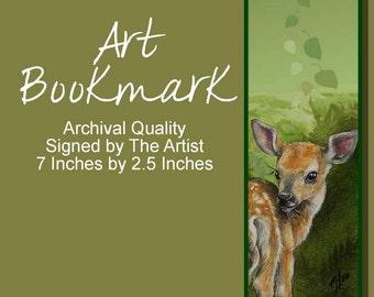 Deer Fawn Bookmark from Original Art  Melody Lea Lamb