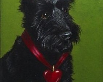 Scottie Dog Art Melody Lea Lamb ACEO Print