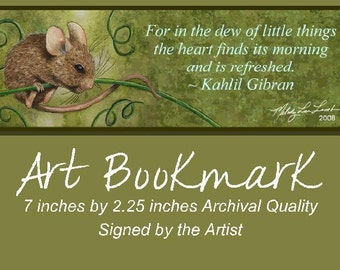 Mouse Bookmark from Original Painting Melody Lea Lamb