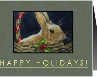 Holiday Christmas Note Card from Original Art by Melody Lea Lamb