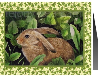 Bunny Note Card from Original Art by Melody Lea Lamb