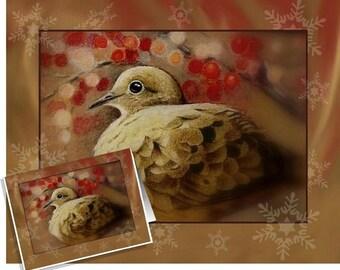 Mourning Dove Bird Greeting Card Melody Lea Lamb