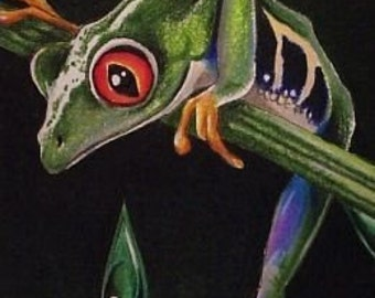 ACEO Print Frog Art By Melody Lea Lamb