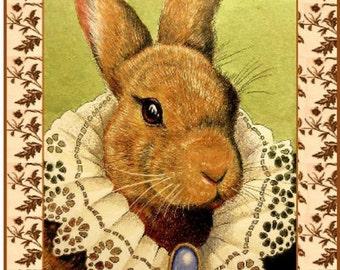 Royal Bunny Highness Handmade Card Art by Melody Lea Lamb