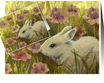 Set Of Easter Bunny Spring Handmade Cards by Melody Lea Lamb