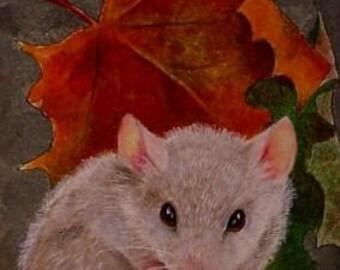 Fall Mouse Art  Melody Lea Lamb ACEO Giclee Print