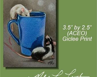 Mouse Art  Melody Lea Lamb ACEO Giclee Print