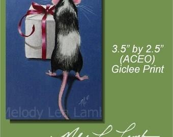 ACEO OE Giclee Print Mouse Art  Melody Lea Lamb