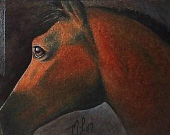 Horse Equine Animal Art Melody Lea Lamb ACEO Print