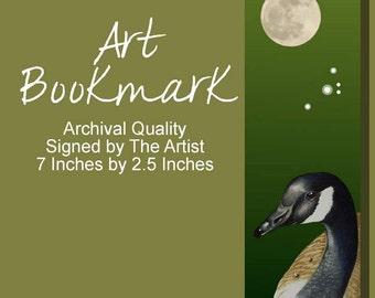 Bird Bookmark Canada Goose from Original Art Melody Lea Lamb