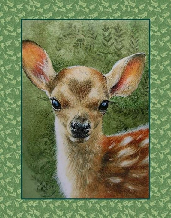 Valentine's Day Card with Deer Art by Melody Lea Lamb