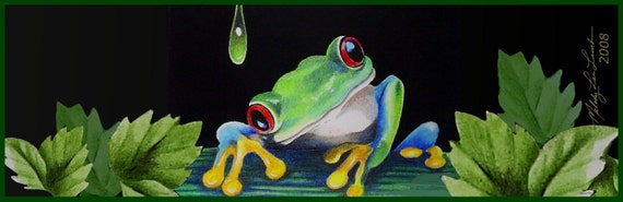 Tree Frog Bookmark from Original Art  Melody Lea Lamb