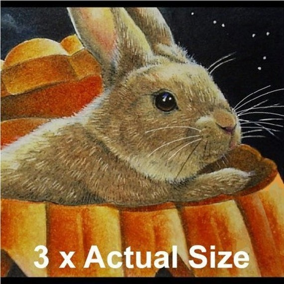 Collection of Ten Halloween Bunny Giclee Bookmarks Melody Lea Lamb