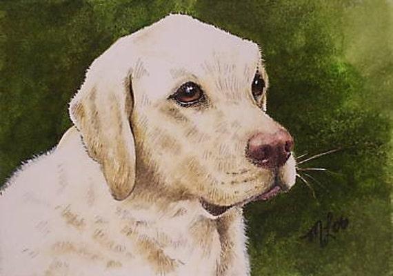 ACEO OE Giclee Print Dog Art Melody Lea Lamb
