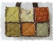Shabby n Chic Chocolate Meadowsweet Rag Tote Handbag