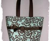 Spa Chocolate Trellis Boutique Diaper Bag Tote