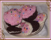 boutique crochet play cupcake and cookies Sampler amigurumi