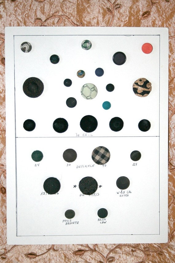 Cloth Button Collector Card 28- WAS 10.00 NOW 6.00