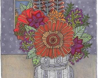 summer flowers matte archival print