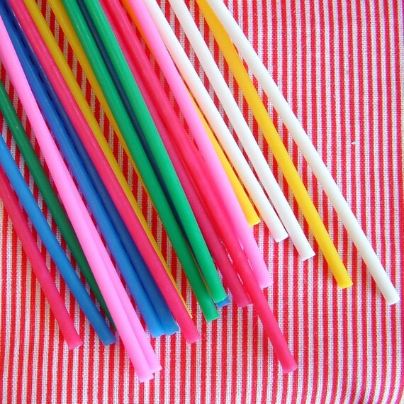 Tall Skinny Birthday Candles For Cakes And Cupcakes 24 Pack