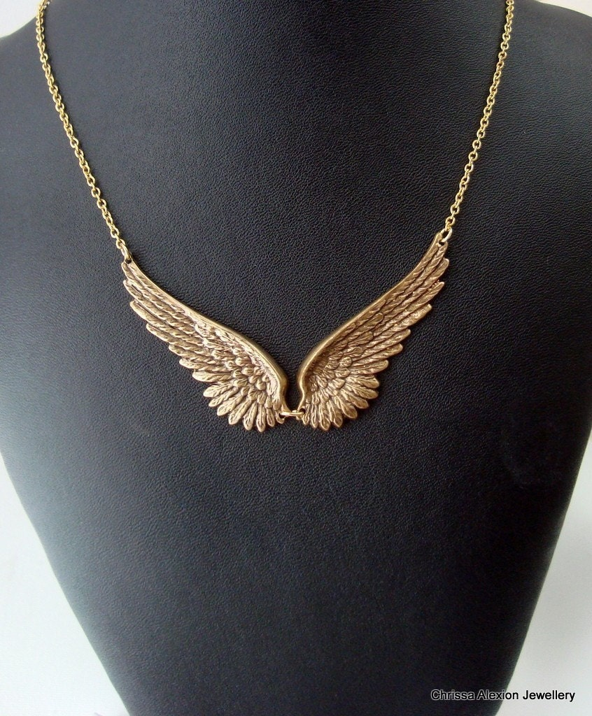 wing necklace antique gold wing necklace wing necklace