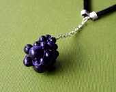 reserved for shauna - BERRY necklace - bluestone.
