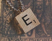 Scrabble Tile Necklace Letter E