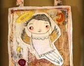 Angel.....mixed media art quilt