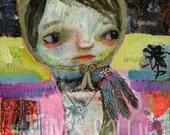 medicine girl - art print by Timssally - Bear