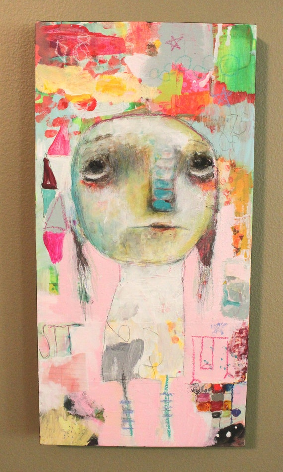 raw art, mixed media - SIT - mixed media painting by Mindy Lacefield