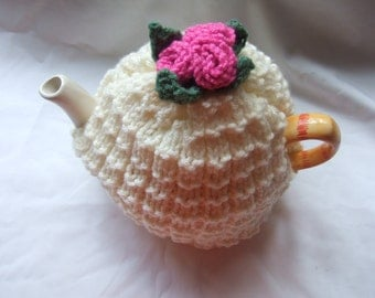 rose tea cozy knitting pattern
