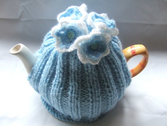 flower posy tea  cosy cosie knitting pattern pdf file uk seller