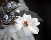 Bracelet, Charm Bracelet, Artisan  'FADE TO GREY' Noir Vintage Shabby Chic Grey Storm Charm Bracelet