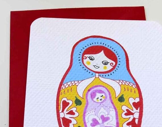 Matryoshka Baby Shower Cards Set of 12
