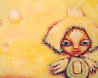 I am a strange chick, original  acrylic painting