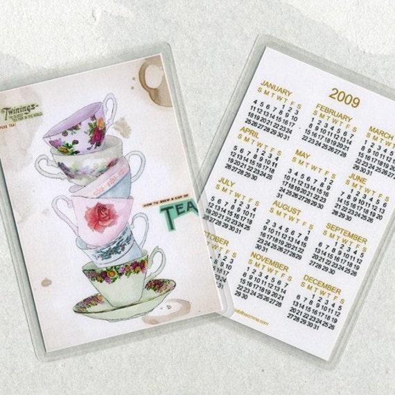 Superb Tea 2009 calendar card