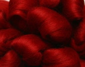 Merino Wool Top for Spinning or Felting - 1 ounce - Cinnabar