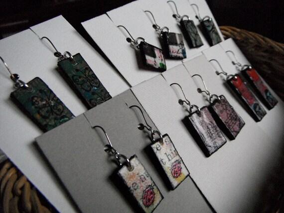 bookboard earring sets, lot of 6