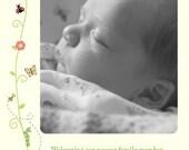 Yellow Vines - Customized Birth Announcement Design