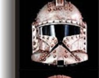 Steampunk Star Wars Helmets Art Print  Boba Fett Clonetrooper Vader Stormtrooper