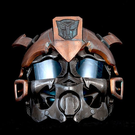 Steampunk Transformers Bumble Bee Helmet Wearable Cosplay  Life Size Bronze Brass