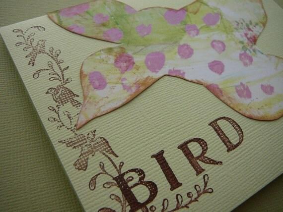 cottage style bird card