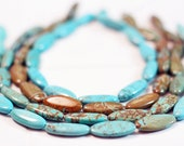 10 Turquoise/Howlite Oval Beads