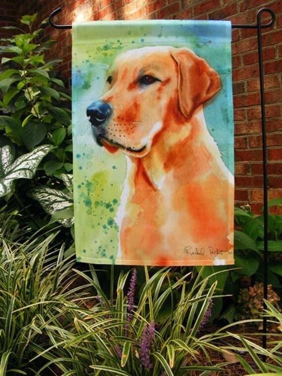 Yellow Labrador Retriever Art Garden Flag