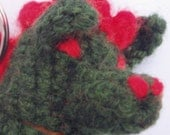 Dragon Lip Balm Cozy and Finger Puppet crochet pattern