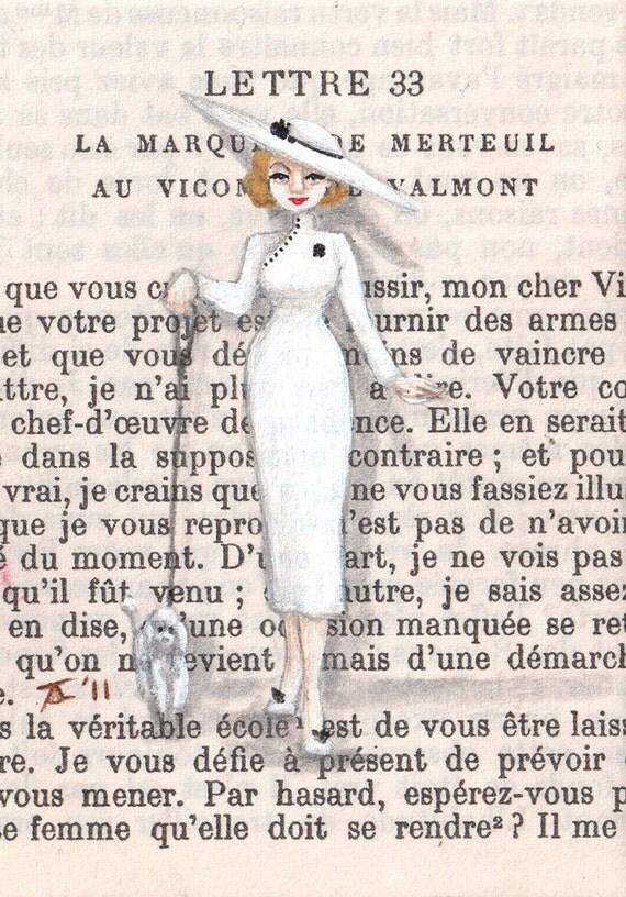 Open Edition ACEO Print - Paris 1959 - Madame DuBois Walks Mimi
