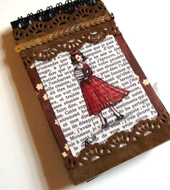 Notebook - Unique, hand-decorated - Deluxe