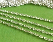 10 Feet Silver Plated Cross Chains 002-S