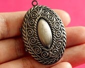 Sale 2pcs Gunmetal Oval Photo Lockets 42mm